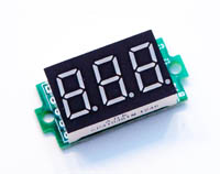 Mini Digitag Voltmeter 0-200V DC rot