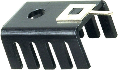 Heatsink: extruded profile - U; TO202, TO220; black; 6:35 x 13:2