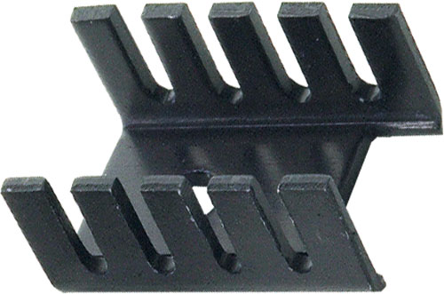 Heatsink: extruded profile - U; TO202, TO220; black; 9.53 x 13.2