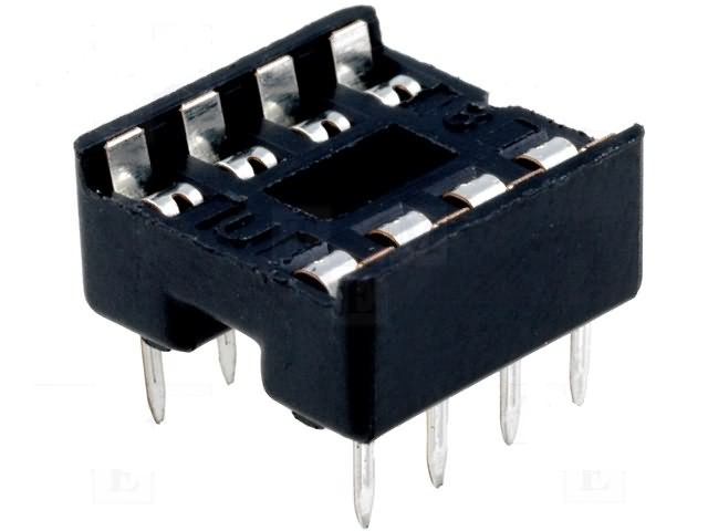 Base DIL-16, 2x8Pin for ICs, grid 2.54mm